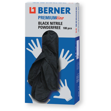 Handschoen disposable nitril M zwart